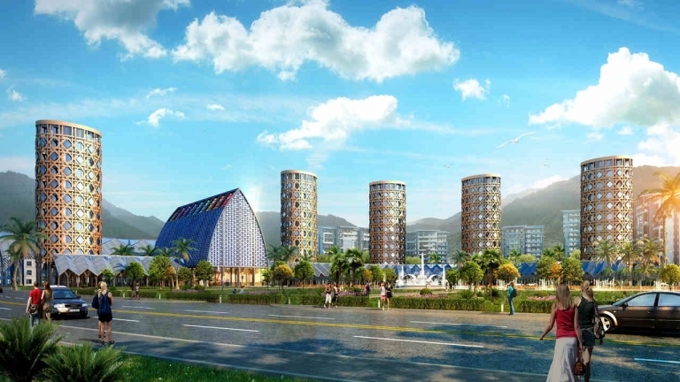 海南汉能光伏小镇概念规划方案